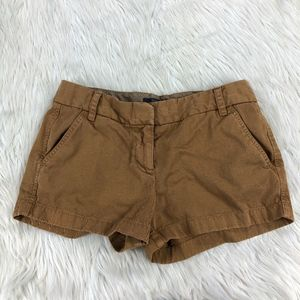 J.Crew Camel Flat Front Chino Shorts